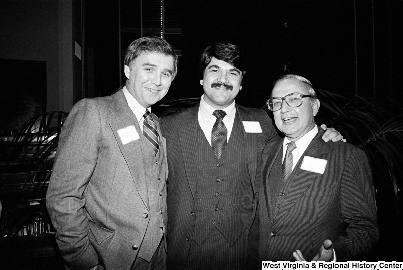 Raymond Kogovsek, William D. Ford, and Richard Trumka pose for a photograph.