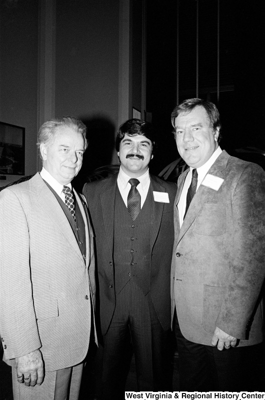 Richard Trumka, Robert Byrd, and Carroll Hubbard pose for a photograph.