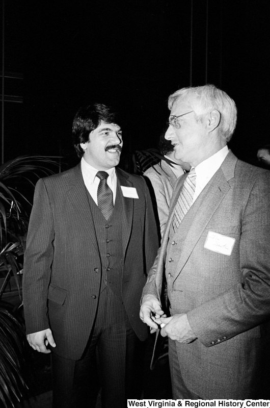 Photograph of Congressman Jim Santini (NV) at event with Richard Trumka
