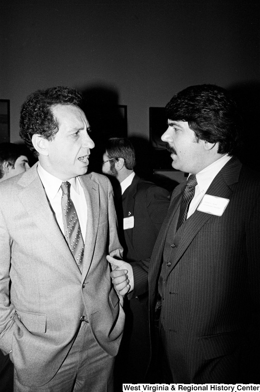 Photograph of Richard Trumka with an unidentified man at an event