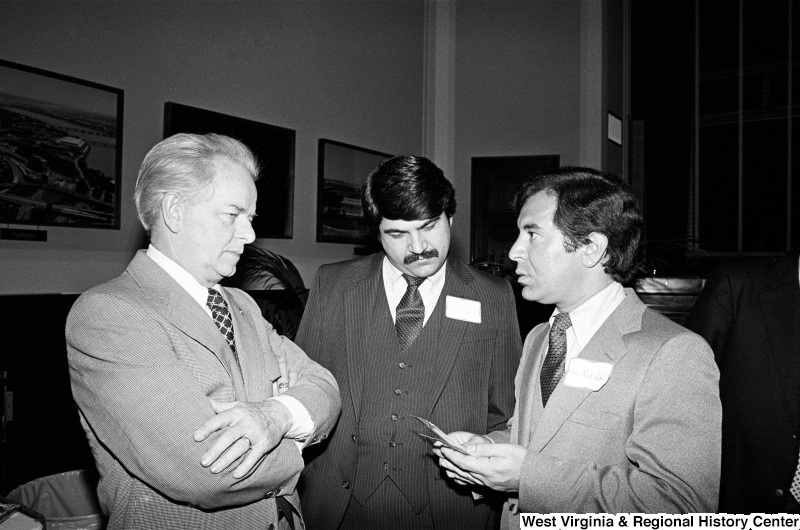 Photograph of Senator Robert C. Byrd, Representative Nick Rahall, and Richard Trumka