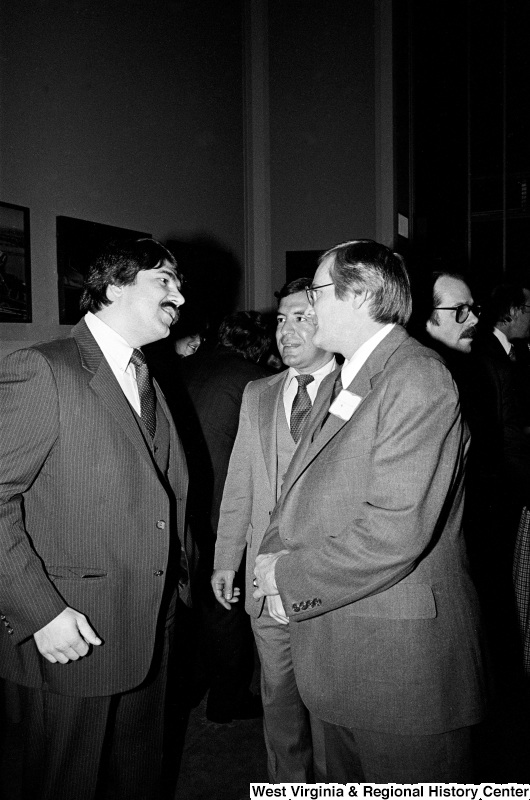 Photograph of Representative Nick Rahall with Richard Trumka and an unidentified man