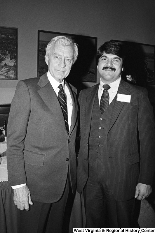 Photograph of Congressman Clarence Miller (OH) and Richard Trumka