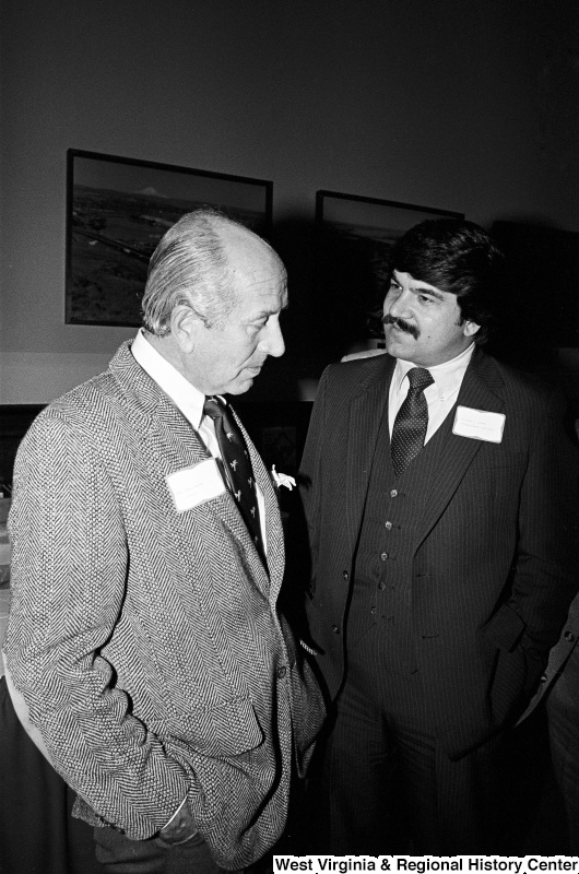 Photograph of Richard Trumka and an unidentified man at event