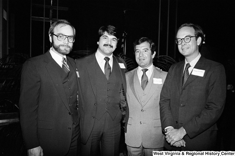 Photograph of Representative Nick Rahall with Richard Trumka and unidentified people at an unidentified event