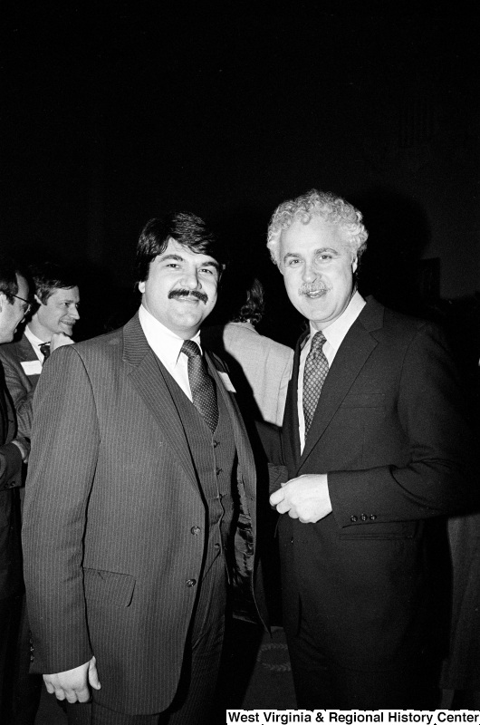 Photograph of Congressman Jim Moody (WI) and Richard Trumka at an event
