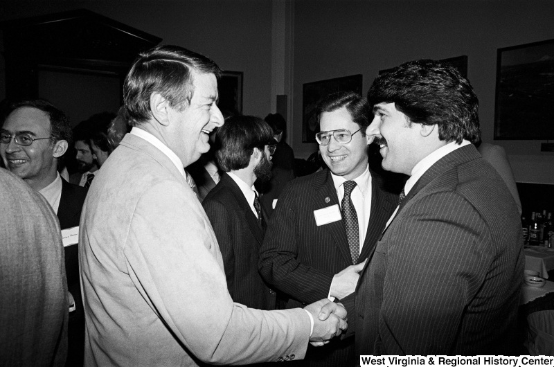 Photograph of Congressman Donald Fuqua (FL), Congressman Alan Mollohan, and Richard Trumka