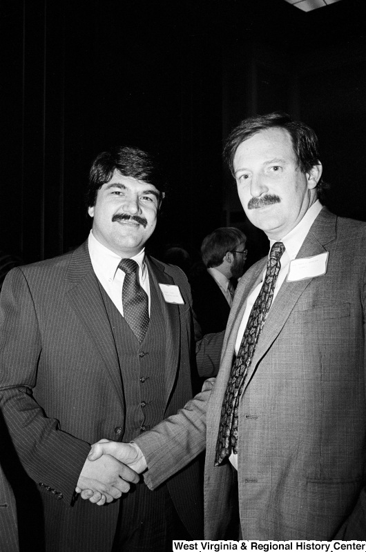 Photograph of Richard Trumka with an unidentified man at an unidentified event