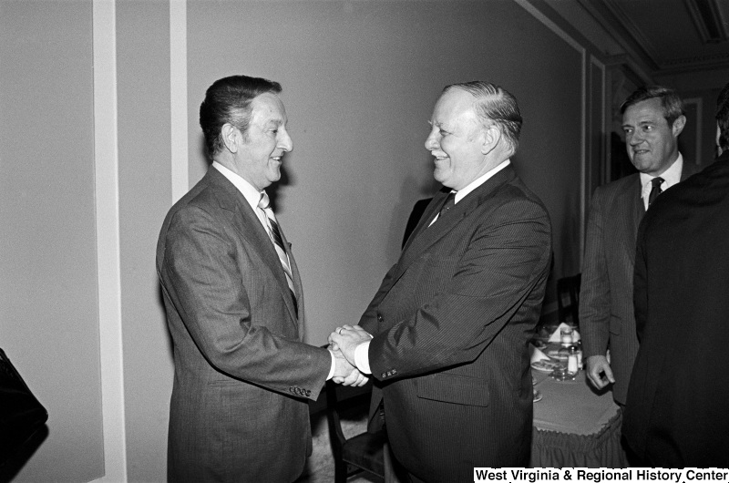 Photograph of Congressman Joseph Addabbo (NY) with actor Danny Thomas