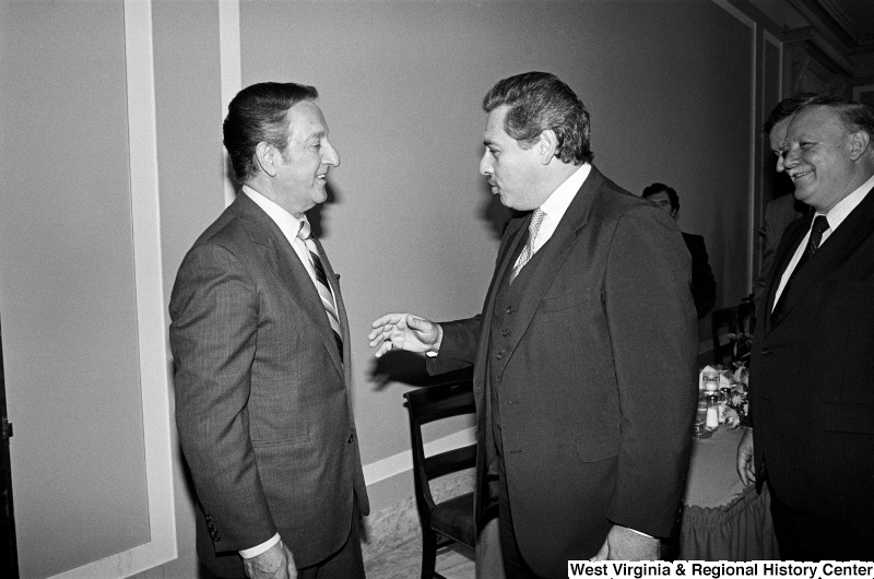 Photograph of Congressman Lawrence J. Smith (FL) with actor Danny Thomas