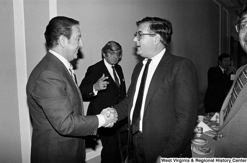 Photograph of Congressman Barney Frank  (MA) with actor Danny Thomas