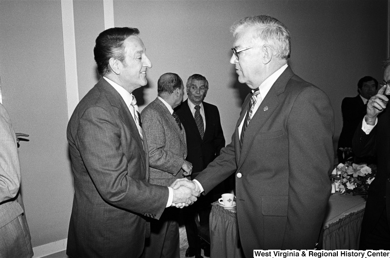 Photograph of an unidentified congressman with actor Danny Thomas