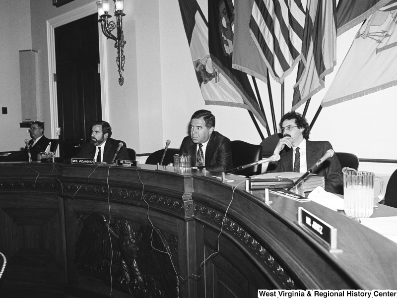 Photograph of Congressman Nick Rahall at a committee hearing