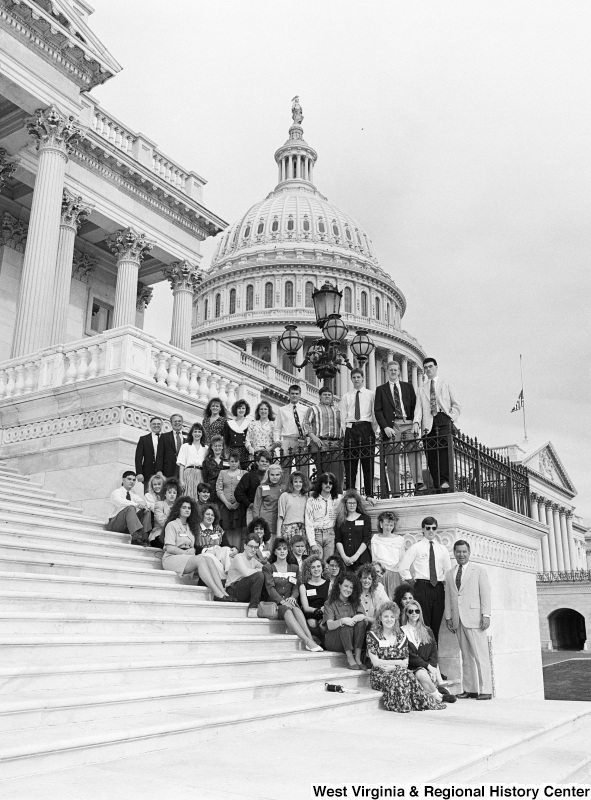 Photograph of Congressman Nick J. Rahall with a group of unidentified people