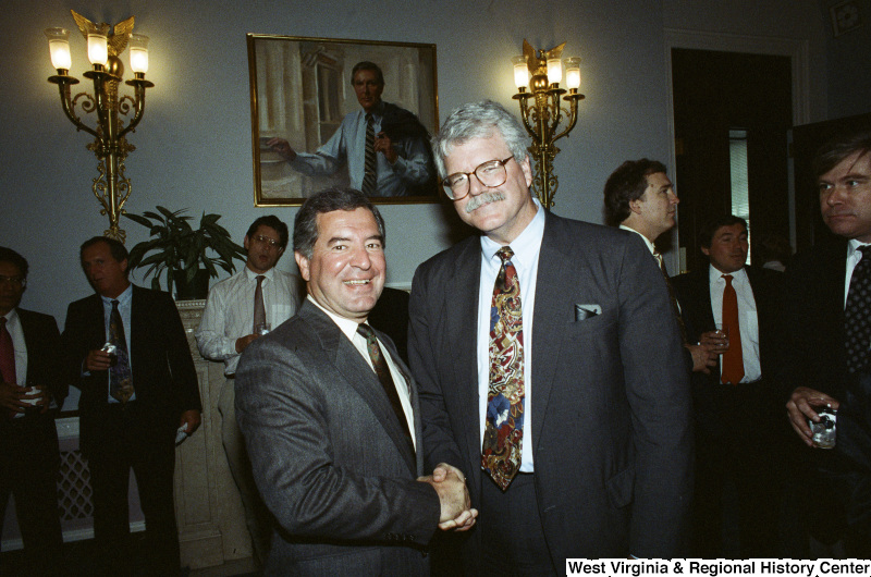 Photograph of Congressmen Nick Rahall and George Miller