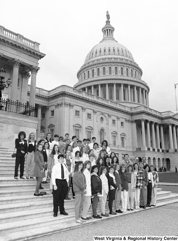 Photograph of Congressman Nick Rahall with an unidentified group