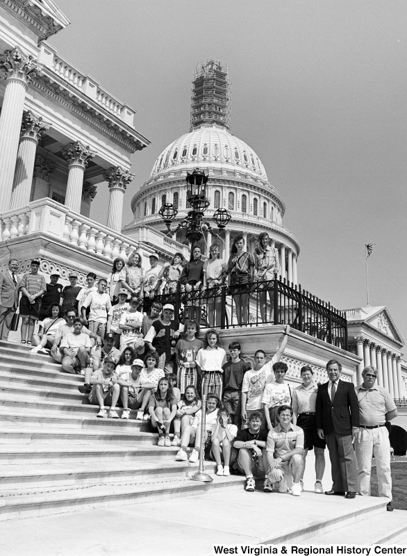 Photograph of Congressman Nick J. Rahall with an unidentified group