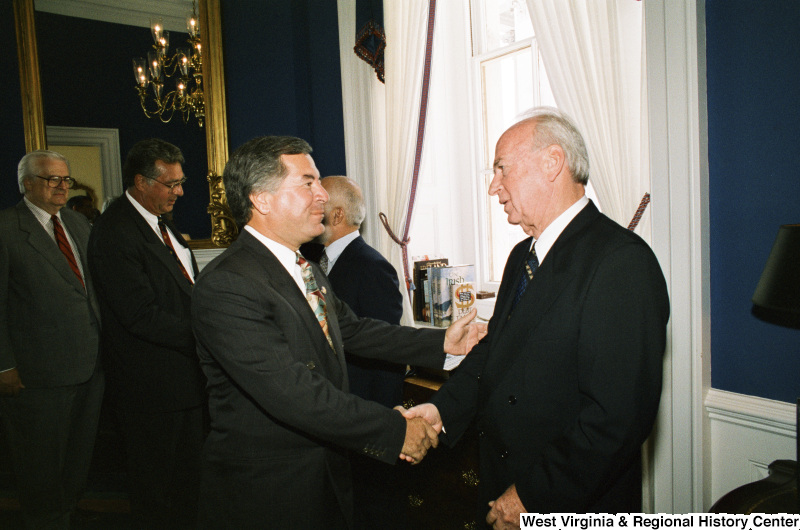 Photograph of Congressman Nick Rahall with an unidentified foreign dignitary
