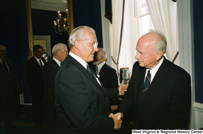 Photograph of Congressman Bob Michel (IL) with an unidentified foreign dignitary