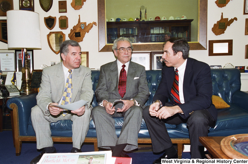 Photograph of Congressman Nick Rahall and two other unidentified people