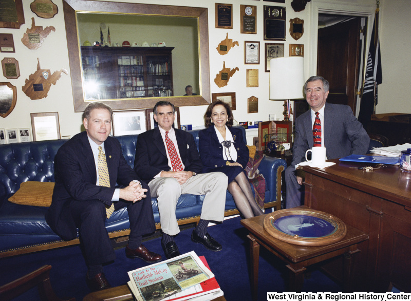 Photograph of Congressman Nick Rahall, Congressman Ray LaHood (IL), and others