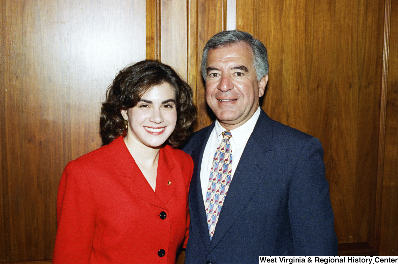 Photograph of Congressman Nick J. Rahall and an unidentified woman