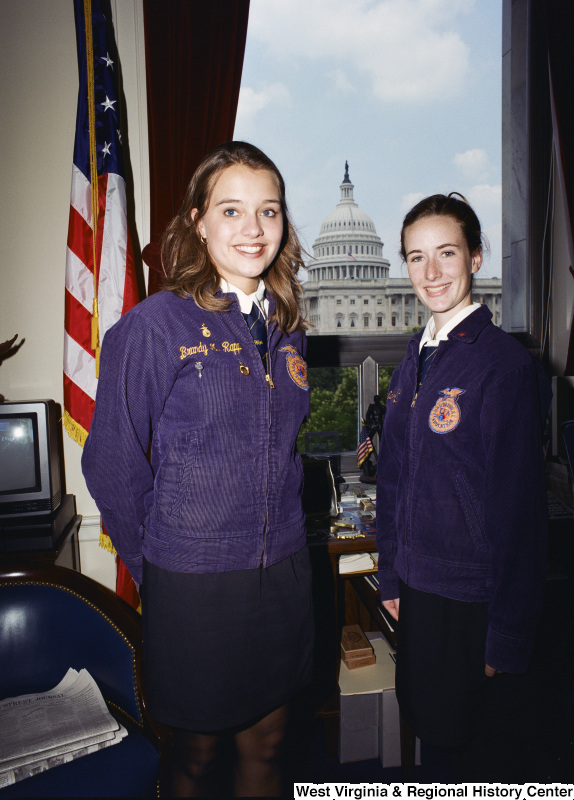 Photograph of two FFA members