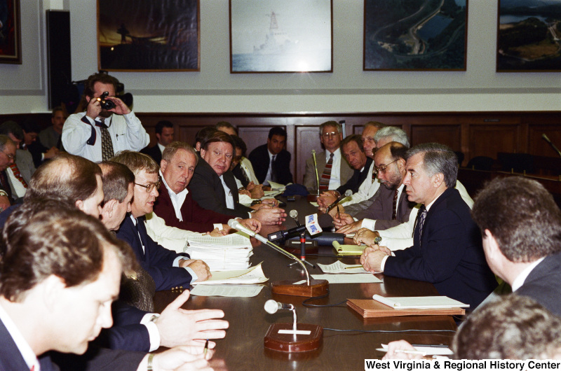 Photograph of Congressman Nick J. Rahall at an unidentified meeting