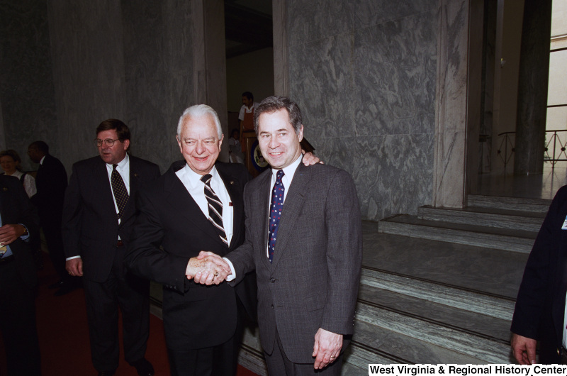 Photograph of Congressman Alan Mollohan with Senator Robert C. Byrd