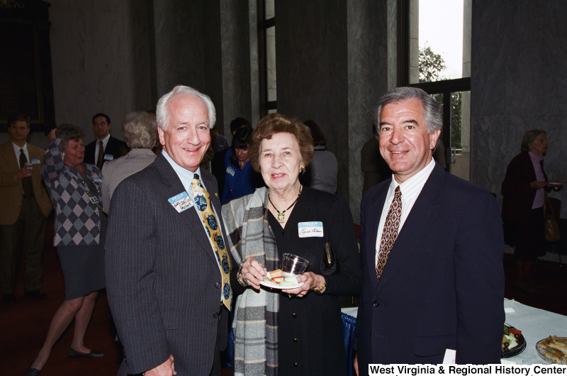 Photograph of Congressman Nick Rahall with Greg Croyton (?) and Edith Nelson