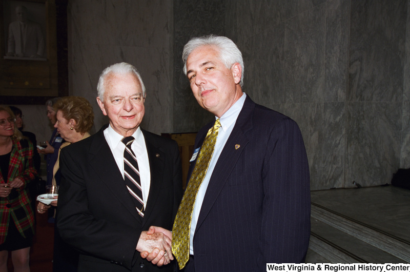 Photograph of Senator Robert C. Byrd and an unidentified man