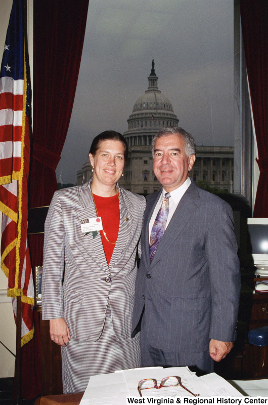 Photograph of Congressman Nick Rahall with State Delegate Barbara Fleischauer