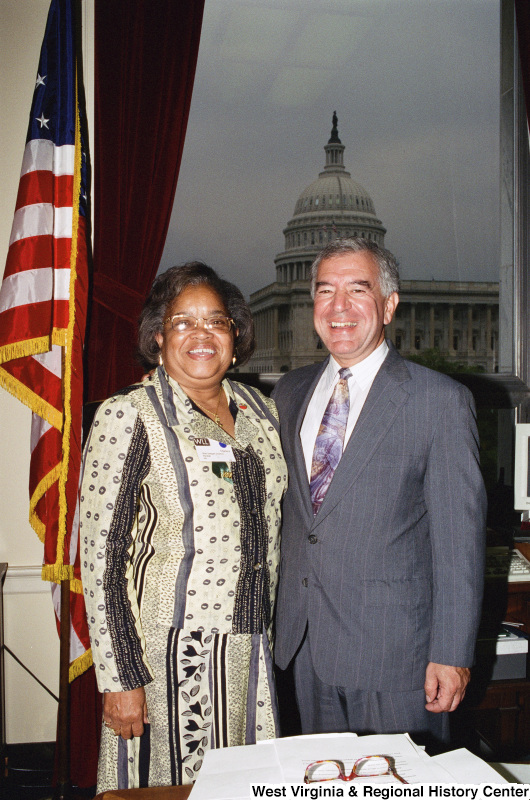 Photograph of Congressman Nick Rahall and State Delegate Charlene Marshall