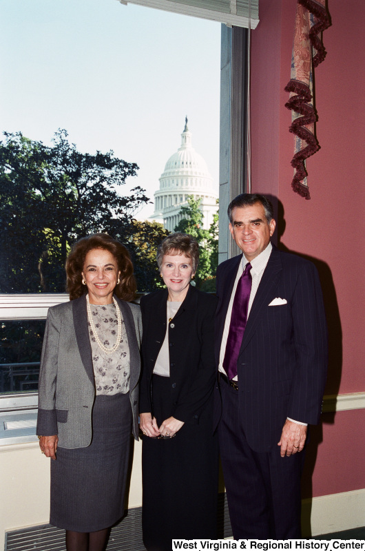 Photograph of Congressman Ray LaHood (IL) with two unidentified women