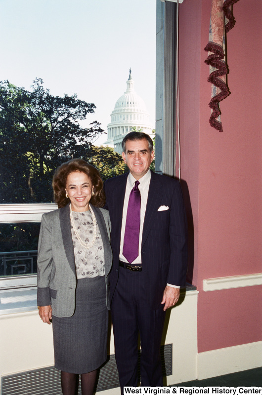 Photograph of Congressman Ray LaHood (IL) with an unidentified woman