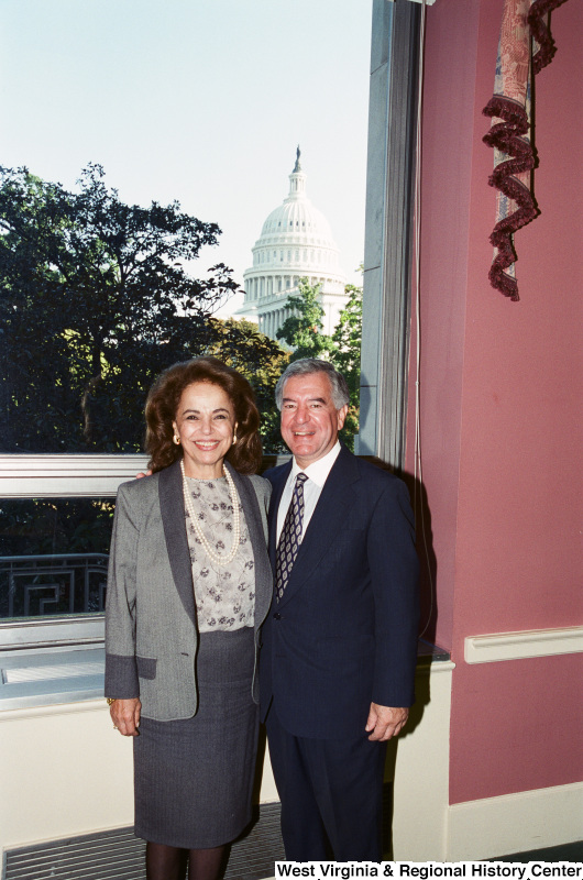 Photograph of Congressman Nick Rahall with an unidentified woman in Washington, D.C.