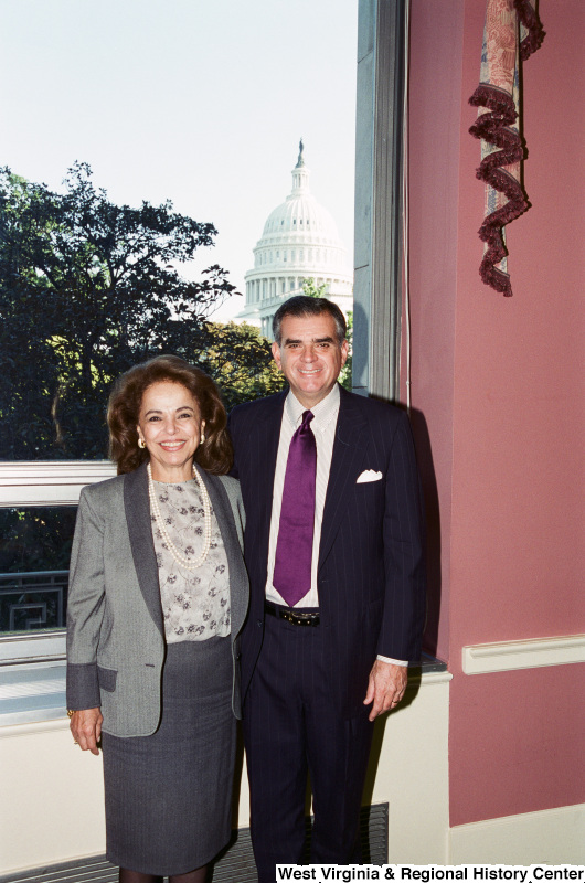 Photograph of an unidentified woman with Congressman Ray LaHood (IL)
