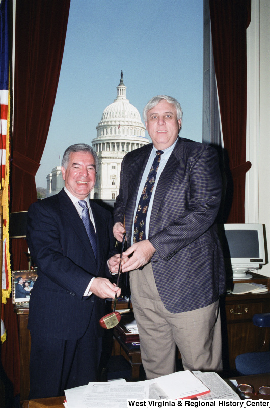 Photograph of Congressman Nick Rahall with Jim Justice (WV)