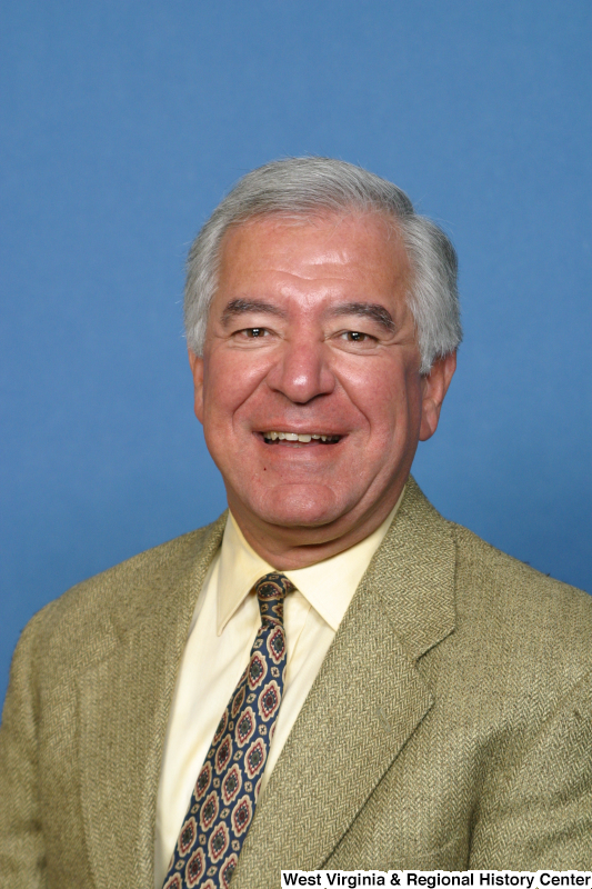 Congressman Rahall sits for his voting identification photograph.