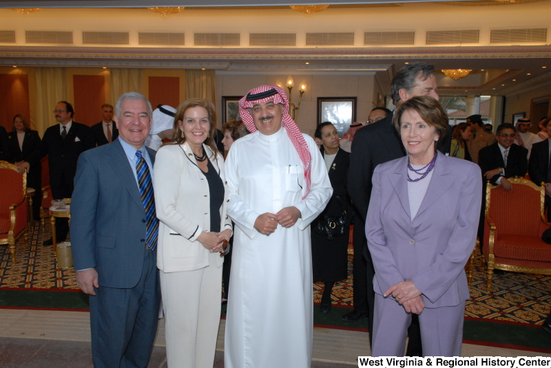 Congressman Rahall stands with Nancy Pelosi and others during a Congressional Delegation trip to Saudi Arabia.