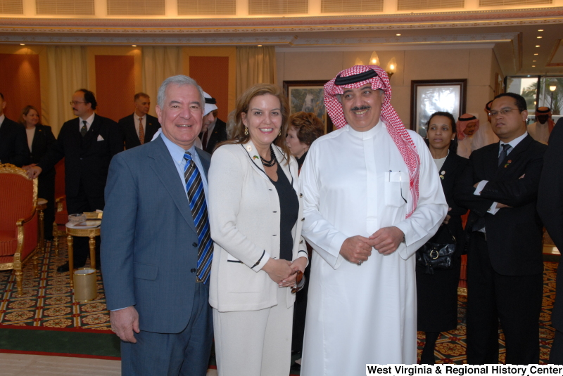 Congressman Rahall stands with others during Congressional Delegation trip to Saudi Arabia.