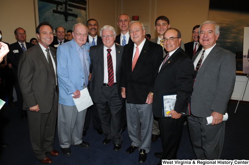 Congressman Rahall, Joe Baca, John Boccieri, Henry Brown, William Clay, Jr., Howard Coble, Tim Murphy, Ed Perlmutter, and others pose for a photograph.