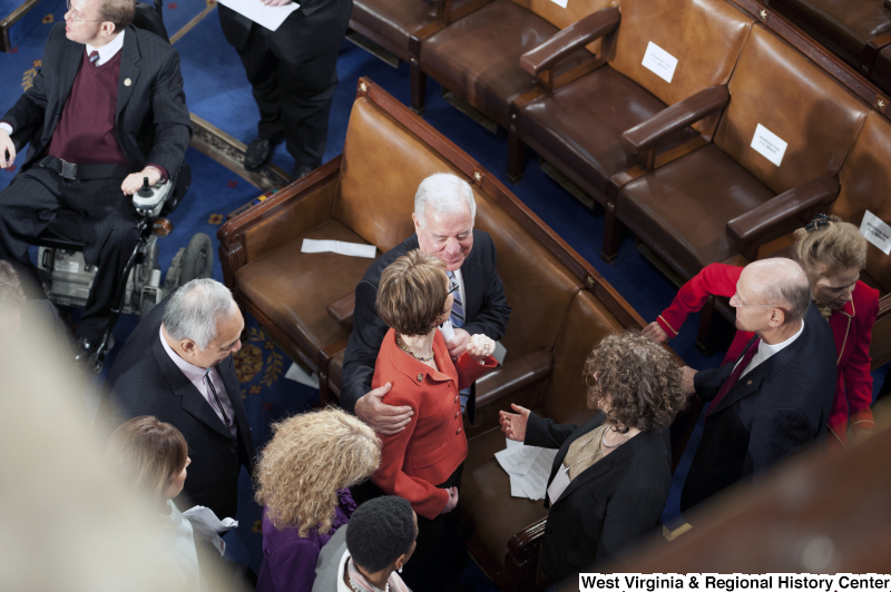 Congressman Rahall, Gabrielle Giffords, and others attend the State of the Union Address.