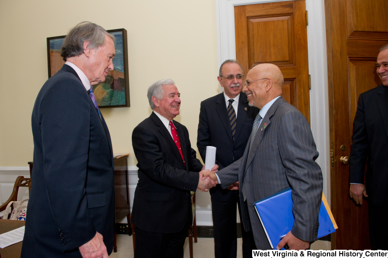 Congressman Rahall meets with Edward Markey and others.
