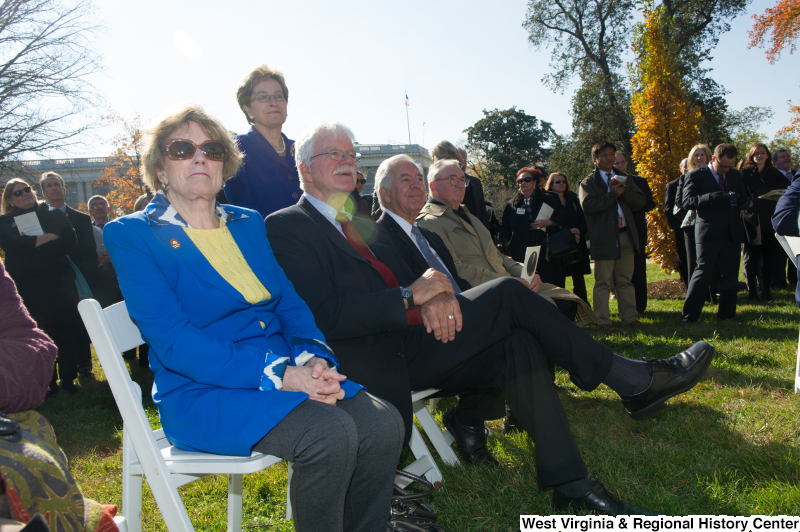 Congressman Rahall and others attend a tree-planting ceremony.