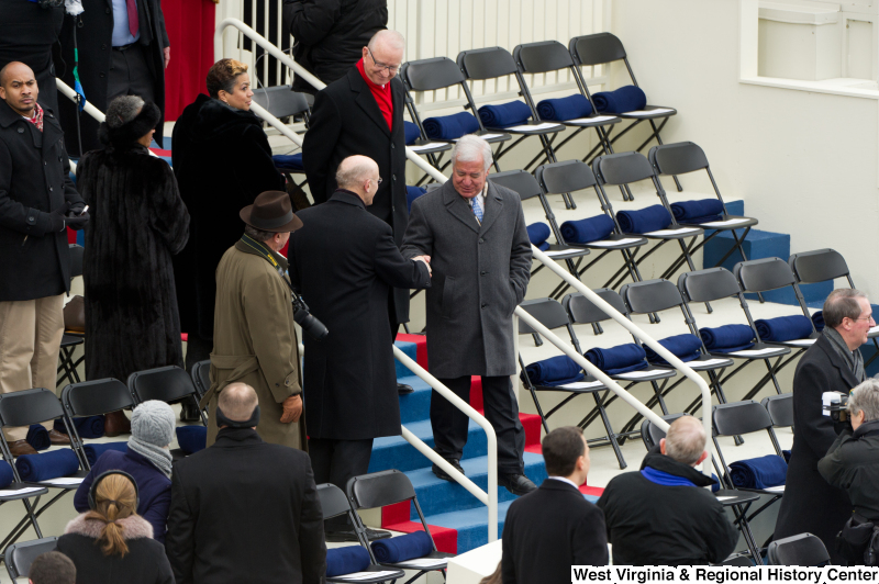 Photograph of Congressman Rahall at the 2013 presidential inauguration