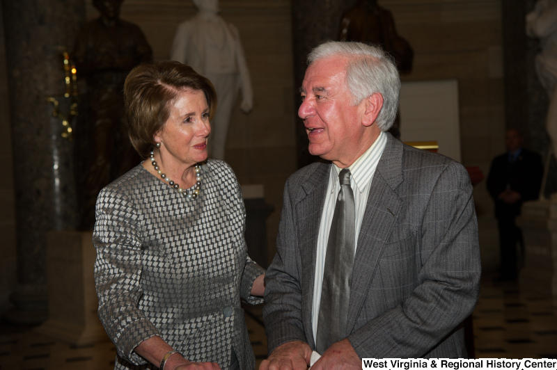 Congressman Rahall speaks with Nancy Pelosi.