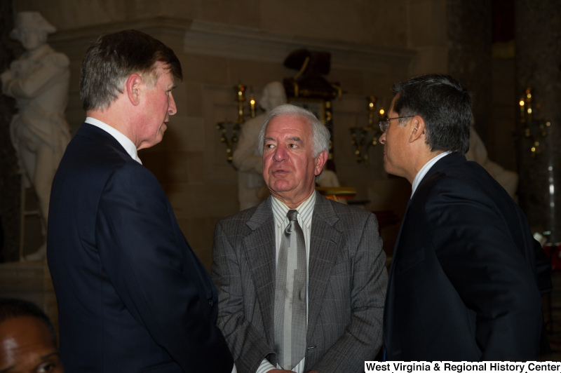 Congressman Rahall speaks with Xavier Becerra and Don Beyer.